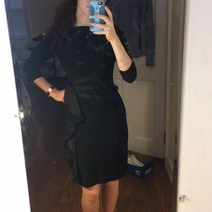 Modest knee length lbd black dress